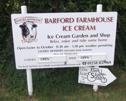barford ice cream sign