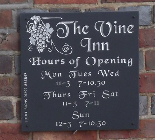 vine inn sign